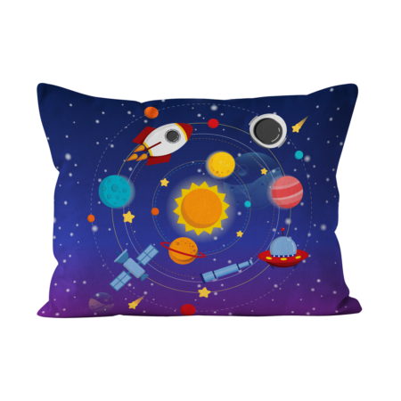Fronha_capa_almofada_bedattitude_personalizada_crianças_foguetão_espaço_astronauta_sol_ovni_estrelas