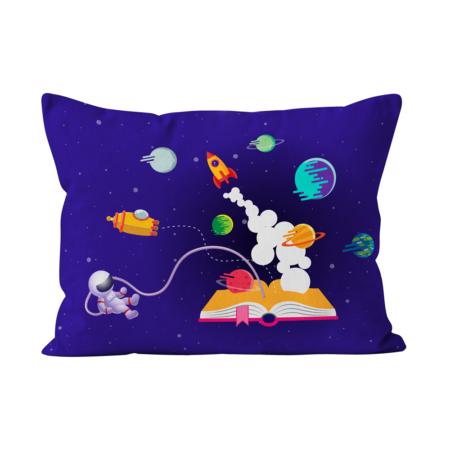 Fronha_capa_almofada_bedattitude_personalizada_crianças_astronauta_espaço_livro_mundo_foguetão_lua