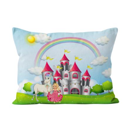 Fronha_capa_almofada_bedattitude_personalizada_crianças_castelo_princesa_unicornio_arco_iris